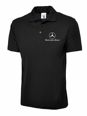 Mercedes Benz Left Chest Printed Polo T-Shirt, Motorsport Racing Gift Polo Top
