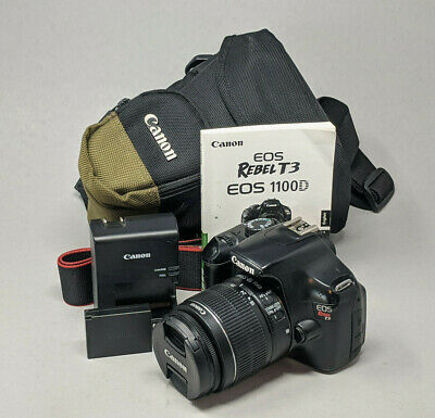Canon EOS Rebel T3 1100D 12.2MP DSLR Camera Kit w/18-55mm IS Lens - 1K Clicks