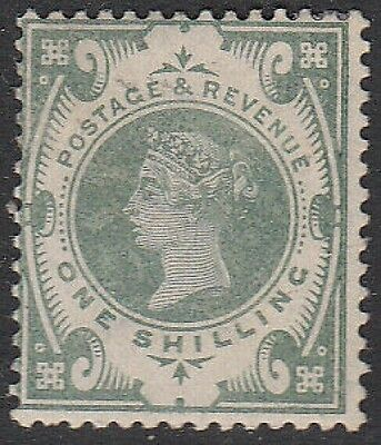 SG 211 1/- Dull Green in generally fine lightly mounted mint condition .