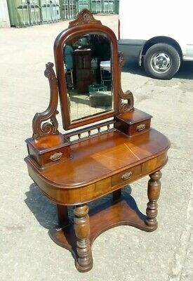 antique,victorian,mahogany,small,dressing table,mirror,drawers,hall table,table,