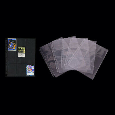 10 Sheets/90 Cards Replaceable Board Game Cards Holder PP Game Cards Page ^S