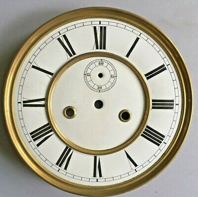 "Vienna ""Regulator"" Two Piece Enamel Dial & Bezel For Weight Driven Clock 7.25"""