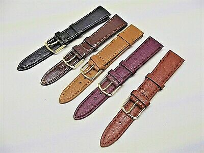 5 cinturini genuine leather lisci 18 mm fine serie x orologi vintage
