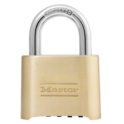 Lot of 6  Master Lock 175 2in (51mm) Wide Resettable Combination Brass Padlock