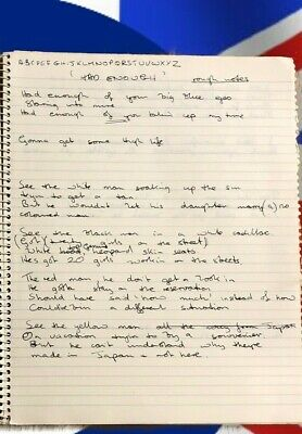"""John Entwistle's Handwritten Lyrics for """"The Who"""" & Solo 18 Songs 35 Pages w/COA"""