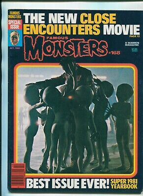 Famous Monsters #168 OCT 1980 / SF FILM ROBOTS / CLOSE ENCOUNTERS / GORGO / JAWS