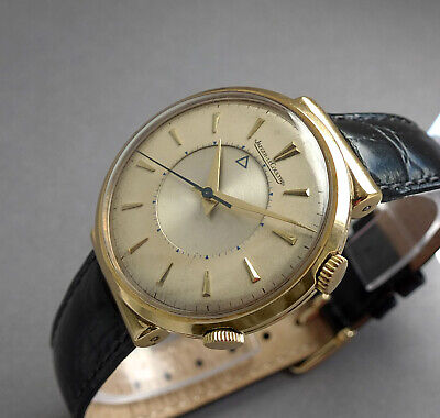 JAEGER LECOULTRE 18K SOLID GOLD Memovox Wrist Alarm Watch 1950