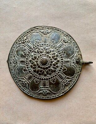 Large byzantine decorated bronze buckle, as found. Rare and excellent artifact!