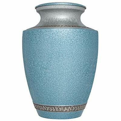 Decorative Urns Cremation With Lid For Adult Human Ashes Blue Vase To Hold Your