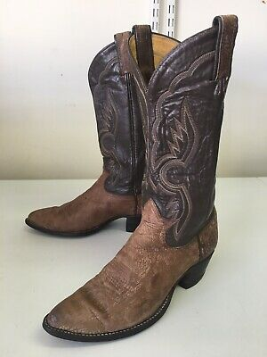 56af212b3f3 TONY LAMA BROWN Suede Western Cowboy Boot Men Size 8.5 D Style 6453 ...