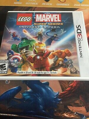 LEGO Marvel Super Heroes Universe in Peril Nintendo 3DS with case and manual
