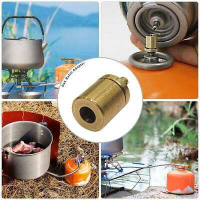 Outdoor Camping Hiking Cooking Stove Inflate Butane Canister Gas Refill Adapter