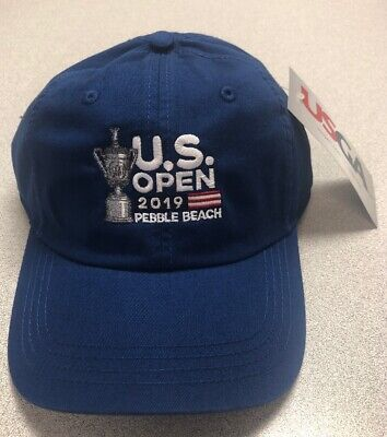 2019 PEBBLE BEACH BLUE LIMITED US OPEN TIGER WOODS Blue Adjustable Hat NEW