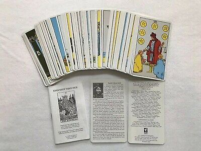 Original Vintage Design 1971 The Rider Tarot Deck Complete 78 Cards With Manual