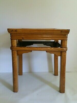 Antique Mission Arts & Crafts Style End Table - Oak Wood