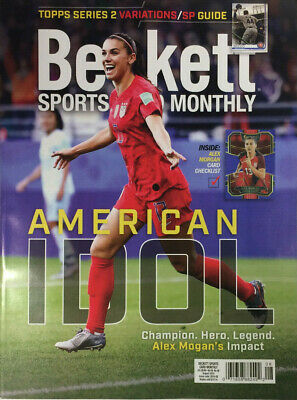 New August 2019 Beckett Sports Card Monthly Price Guide Magazine w/ Alex Morgan