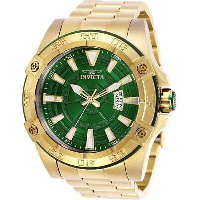 Invicta Pro Diver 27013 Men's 52mm Gold-Tone Automatic Watch with Green Dial
