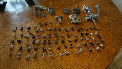 Awesome, Star Wars Micro Machines Action Fleet, 75 Figures & 9 Ship Lot, Nice!