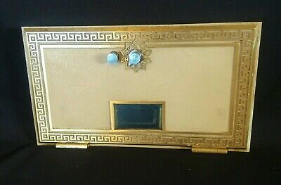 "Vintage Brass & Glass US Post Office Mail Box Door 11"" x 6 1/4"""