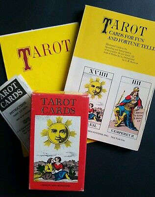 Tarot Card Deluxe Fortune Telling Game 1JJ 1970 AG Muller 78 Card Deck US Games