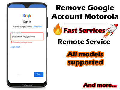 GOOGLE ACCOUNT LOCK Removal FRP Remove Service For Motorola