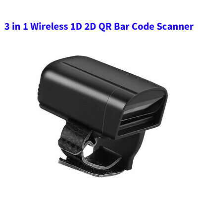 2.4G Wireless Bluetooth 1D 2D QR Wearable Ring Barcode Scanner for iPad Android