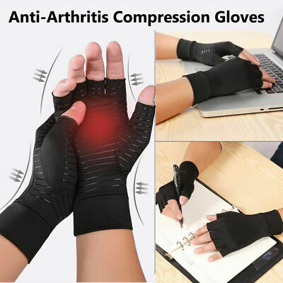 Copper Arthritis Hand Gloves Compression Carpal Tunnel Hand Wrist Support Brace