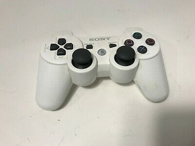 Official Sony PlayStation PS3 White Wireless Dualshock 3 Controller *TESTED