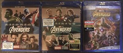 Marvel AVENGERS Trilogy, [Blu-ray] Complete 1-3 Collection, Marvel Universe Lot