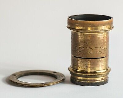 4x5 rare brass lens The london stereo scopic co rapid rectilinear 7535