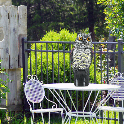 Hot Sale 360° Rotating Head Fake Owl Field Lawn Protection Repellent Bird Scarer