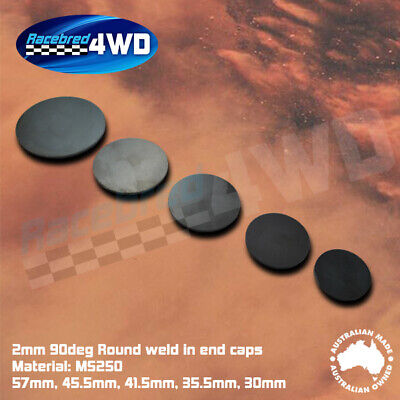 Laser Cut Weld In 2mm Thick 90 Degree Rounds in various sizes