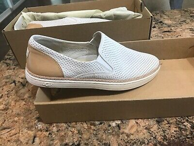 0263abe28fb UGG ADLEY PERF Caribou Suede Leather Slip-On Sneakers Shoes Size Us ...