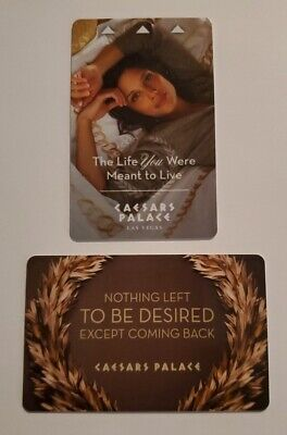 """CAESARS PALACE Casino """"The Life You Were Meant To Live"""" Las Vegas Room Key Card"""
