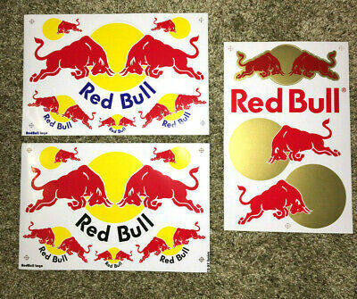 Red Bull Energy Drink Stickers!! 3 different options!! Red Bull Stickers!!