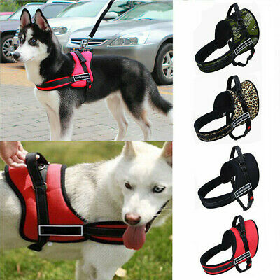 No-pull Dog Harness Outdoor Adventure Pet Vest Padded Handle- Reflective S-XL UK