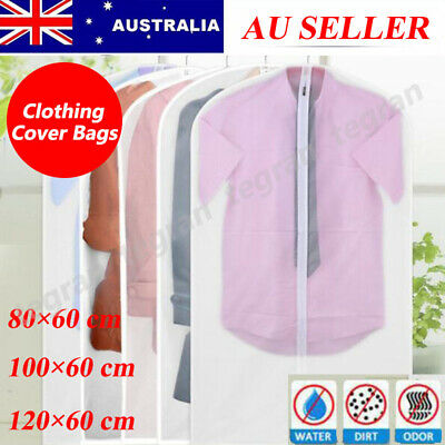 20x Suit Dress Clothing Dust Cover Bags Jacket Wardrobe Storage Coat Protector A