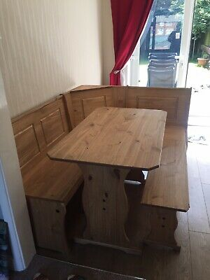 Outstanding Corner Bench Dining Table 100 00 Picclick Uk Unemploymentrelief Wooden Chair Designs For Living Room Unemploymentrelieforg