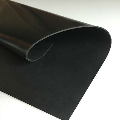 500 x 500mm Black Silicone Rubber Sheet Pad 0.1-3mm Thick High Temp Resistance