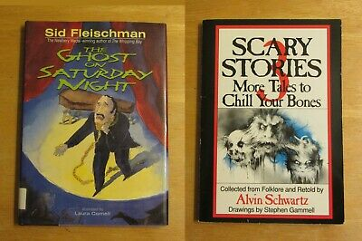 Lot of 2 The Ghost on Saturday Night by Sid Fleischman / Scary Stories 3