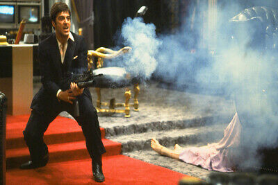 P187 Scarface Say Hello to My Little Friends Classic Movie Al Pacino Silk Poster