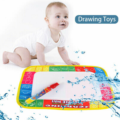 Water Doodle Mat – Aqua Drawing Pad with Magic Pen - Mess Free Painting Baby Toy