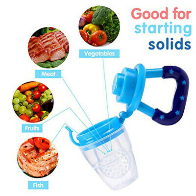 Baby Dummy Feeding Nibbles Weaning Nutrition Pacifier Fresh Fruit Food Feeder WS