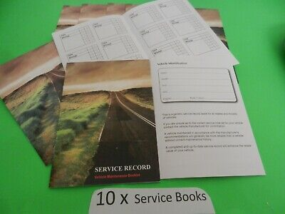 10 x Blank Car Van Vehicle Service History Book Maintenance Record Replacement