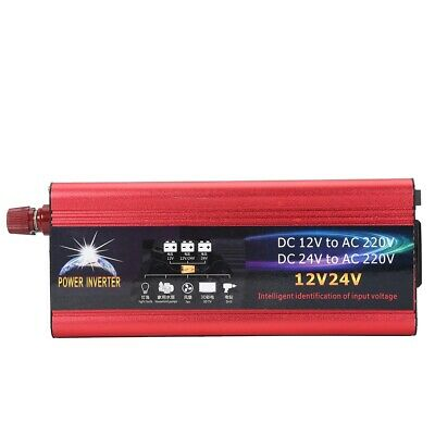 12V 24V Vehicle Solar Power 6000W Inverter Converter 12V to 220V