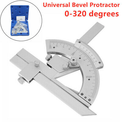 320 ° Bevel Protractor Machinist Angle Measurement Accurate Tool Carbon Steel