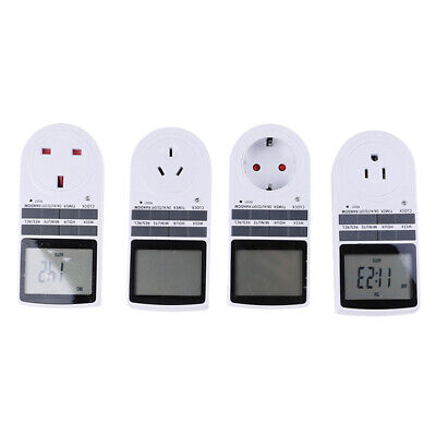 Digital Electrical Timer Plug Socket Weekly Programmable Light Switch ^S