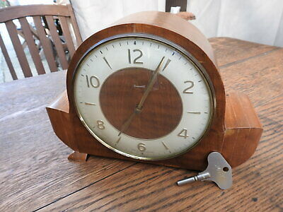 Vintage SMITHS TIMEMASTER Striking Mantel Clock Made in Great Britain