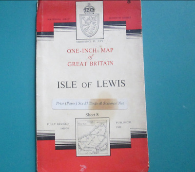 Ordnance Survey One - Inch Map Of Isle Of Lewis 1960 Map, Number 8.