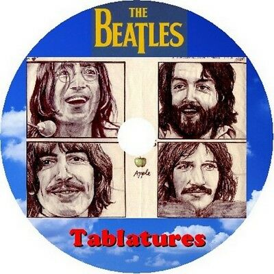 THE BEATLES GUITAR Tabs Tablature Lesson Software CD 264